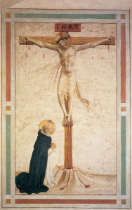 Crucifixion with St Dominic by Fra Angelico (1442)